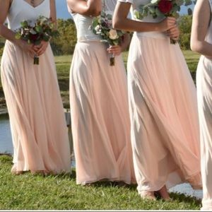 Light pink maxi skirt. Worn once. M. 41 in long.
